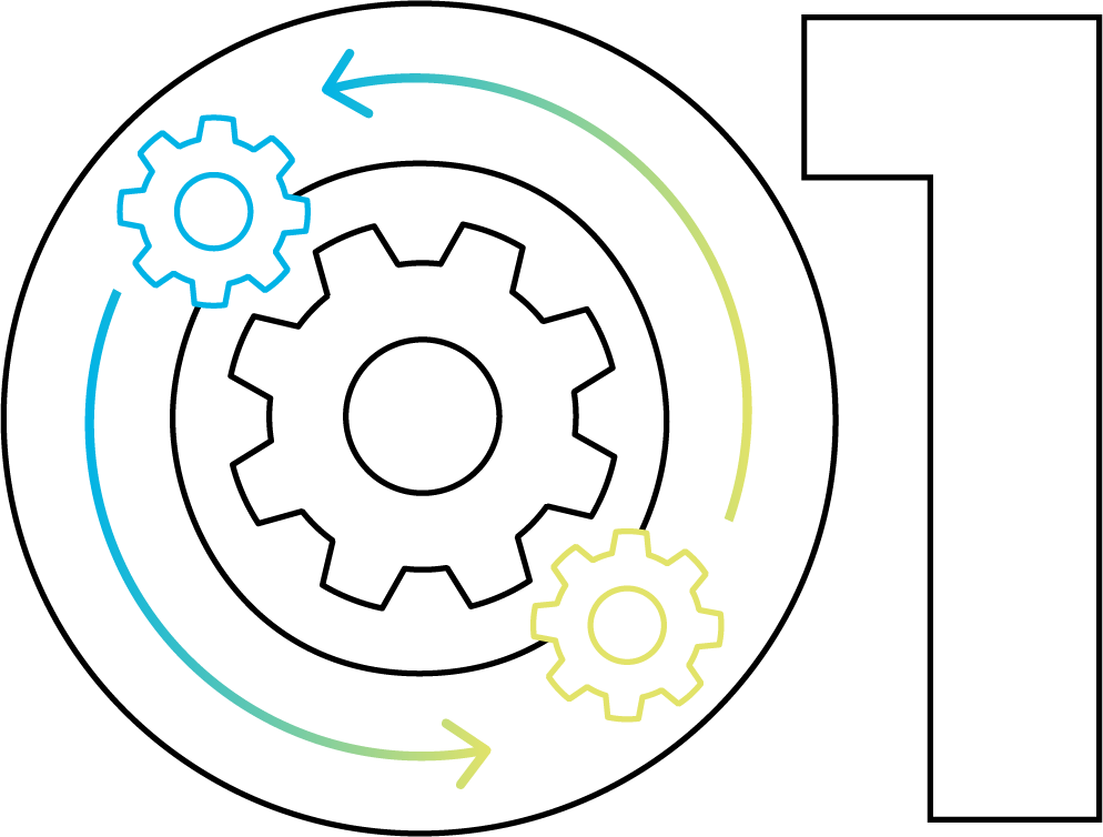 Veracode logo with gears
