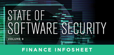 State of Software Security Volume 9 Finance Infosheet