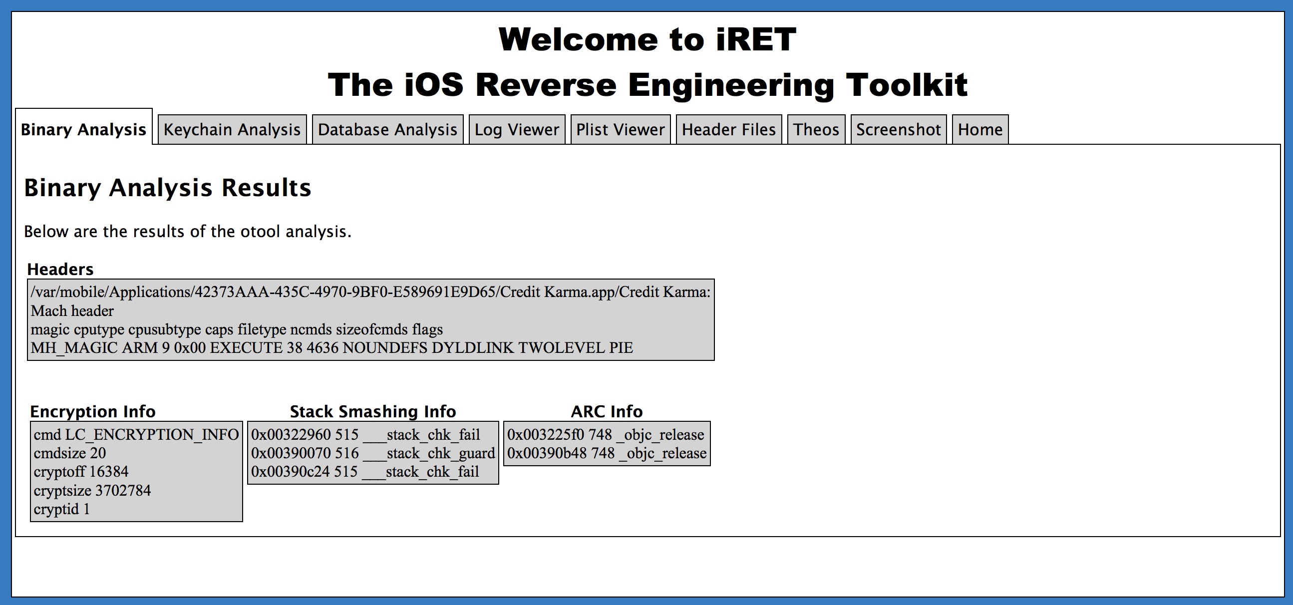 Introducing the iOS Reverse Engineering Toolkit | Veracode