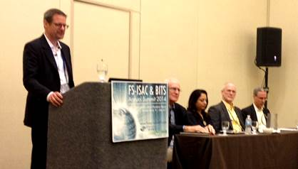 Chris Wysopal moderates a panel discussion at the FS-ISAC & Bits Annual Summit 2014